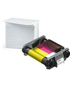 CBGP0001C Kit de Cinta y 100 Tarjetas Badgy 100 y Badgy 200
